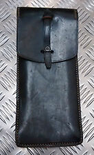 Genuine Vintage Army Leather Pouch with belt loops and metal loop - With Defect
