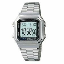 Casio Watch A-178WA-1A Wrist Men's Women's Fashion Unisex Digital Dial Stainless