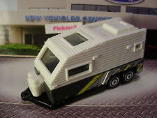 HTF 2014 OUTDOOR SIGHTS Design TRAVEL TRAILER Camper☆White/Gray ☆LOOSE☆Matchbox