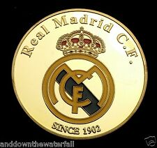 Ronaldo Real Madrid Gold Coin Signed Football Christiano Portugal Euro 2016 Nice