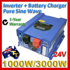 High Power Inverter 1000W / 3000W surge  Pure Sine Wave with Charger 24V HP1024