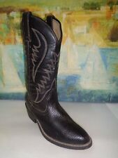 Men's Black Leather EXPRESS RIDER Western Boots sz: 7.5