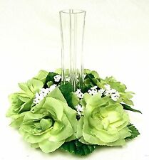 Candle Ring Rings ~ Light GREEN Sage Fern ~ Silk Wedding Flowers ~ Centerpieces
