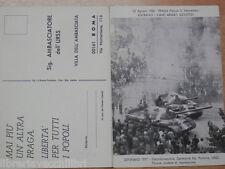 Cartolina di protesta all Ambasciatore URSS a Roma GIOVANI LIBERALI 1977 Gennaio