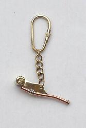 Schlüsselanhänger  Bootsmannpfeife  Messing Pfeife  4,5 cm  Maritime Dekoration