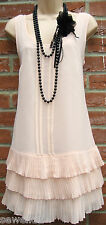 SIZE 14 16 1920'S CHARLESTON DECO FLAPPER GATSBY STYLE DRESS ♥ US 12 EU 44