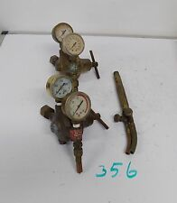 Vintage Airco Brass Steampunk Valve Regulator Pressure Gauge Lamp Base Torch