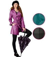 Esmara waterproof  womens trench coat with removable hood size UK 10-12-14-16