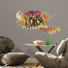New Giant STAR WARS REBELS WATERCOLOR WALL DECALS Boys Room Stickers Decor