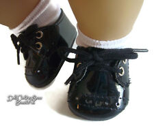 Boy Twin Black Patent Dress Shoes for American Girl Bitty Baby Doll Clothes