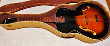 Vintage 1950s Silvertone Harmony Archtop Acoustic Guitar with Case