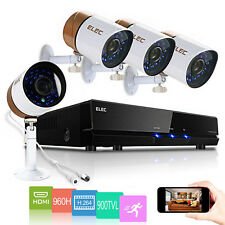 ELEC® 4CH 960H HDMI DVR 900TVL Outdoor CCTV Home Video Security Camera System