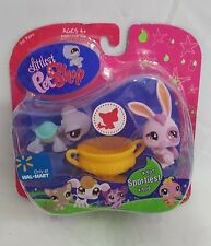Hasbro Littlest Pet Shop Sportiest #907 Bunny & 908 Turtle Walmart EX NEW