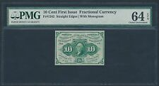 Fr1242 10¢ Fractional Currency 1St Issue S.E. W/ Monogram Pmg 64 Epq Br1195