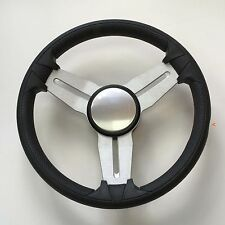 2nd Quality Gussi Boat Steering Wheel M15 Brushed Alum Spoke Black EVA Soft Rim