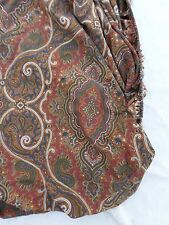 RALPH LAUREN gold red blue paisley colonial bed sheet FITTED QUEEN