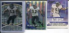 3 Card Insert Lot Ray Lewis 2010 Finest XFractor 2001 Quantum Leaf 2010 Refracto