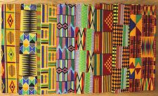 Kente Print Fabrics *Rainbow Of Colors Fat Quarter Bundle* Crafting & Patching