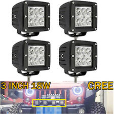 4X 18W 3X3 Spot Pods Cree Cub  Led Work Light Boat Marine Ranger Polaris Offroad