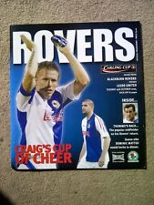Blackburn Rovers v Leeds United - Carling Cup 3rd Round 2005/06 Programme