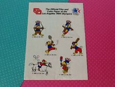 Olympic Mascot Sam the Eagle Stickers - 1984 Presented By FUJI