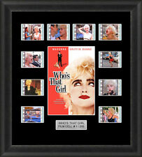 WHO'S THAT GIRL FRAMED FILM CELL MEMORABILIA MADONNA FILM CELLS