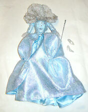 Disney Doll Sized Sparkling Light Blue Satin Gown Outfits For Dolls dn254