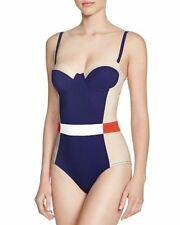 Tory Burch Women's Colorblock Lipsi One-piece Swimsuit Sz L