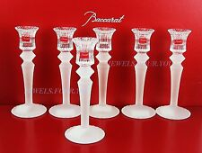 "BACCARAT MILLE NUITS CANDLE STICK CLEAR & SANDED BRAND NEW 7 1/2"" FRANCE"