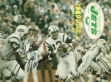 1969 NY JETS YEARBOOK COVER WITH JOE NAMATH INSCRIPTION (COPY) CLASSIC