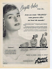 PUBLICITE ADVERTISING 094 1956 MARCEL FRANCK vaporisateurs