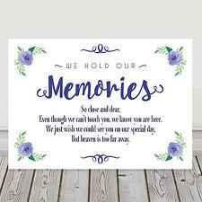 Azul Marino Boda Memorial Memoria cuadro signo Poema 3 Para 2 (N6)