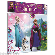 Disney's FROZEN Snow Queen Birthday Party Scene Setter Wall Decoration Kit