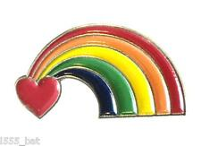 LGBT Love Rainbow Pride Lesbian Gay Bisexual Transgender Metal Enamel Pin Badge