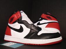 2016 Nike Air Jordan I Retro 1 High OG WHITE BLACK TOE RED CHICAGO 555088-1