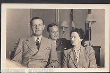 Genealogy Photo - Ancestors Photo - Two Men and a Lady Posing  A9021