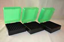 (3) .223 / 5.56 Berry's Mfg. 100 rd ammo case / box  (ZOMBIE GREEN)  222 223 556