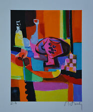 "Marcel Mouly ""LA CARAFE JAUNE"" Limited Edition Signed Numbered Lithograph  + COA"