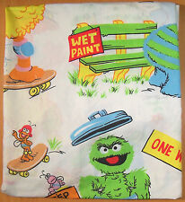 Vintage Sesame Street Twin Fitted Sheet - Fabric - Bedding - VGC