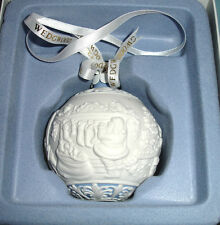 Wedgwood The NIGHT BEFORE CHRISTMAS Ball Ornament Blue & White Porcelain New