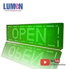 """8"""" X 27"""" Green Indoor Programmable LED Scrolling Sign Moving Message Window P10"""