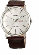 Orient Capital Collection FUG1R003W6 White Dial Brown Leather Band Men's Watch