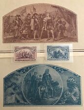 1893 - The Columbian Exposition Stamp Issue - Scott Catalog #230-231 MNH & GIFT!