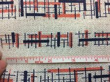 """Vintage MCM Atomic Lines Woven Cotton fabric - 45"""" x 3 Yds - Mid Century"""