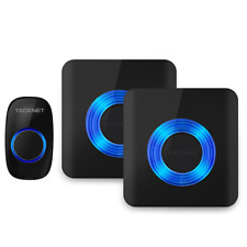 TeckNet Campanello Senza Fili Wireless Waterproof Doorbell, 2 Ricevitori, Nero