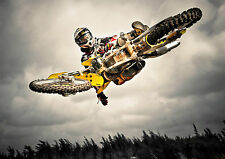 MOTOCROSS MOTORCROSS Photo Poster Print A3 260gsm