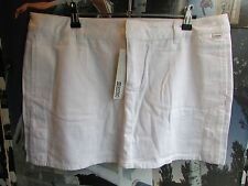 MAMBO GODDESS MINI SKIRT WHITE COTTON ULTRA MINI SHORT SKIRT SIZE 14 RRP £23