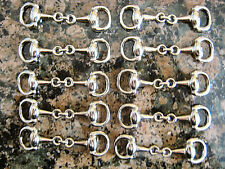 10 pc-Silver Plated Equestrian Snaffle Horse Bit Charm, DIY Wholesale Hi Quality