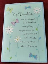 "Excellent Quality ""Daughter"" Birthday Card  (Beautiful Words)"