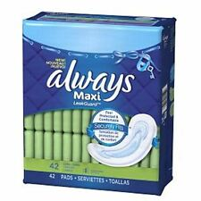Always Maxi Pads Without Wings, Long-Super 42 ea